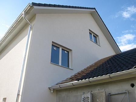 Hausbau Ansicht hinten